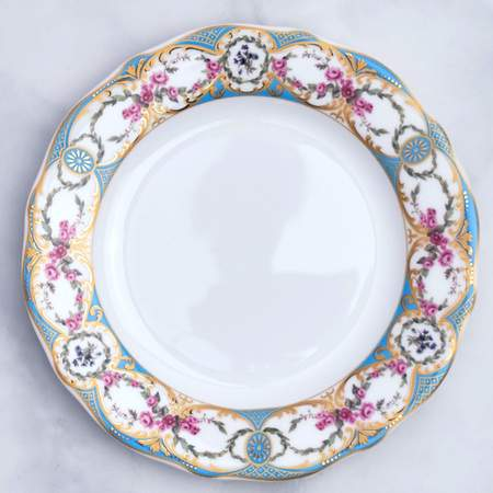 "China, Antoinette Bleu B&B Plate 6.25"""