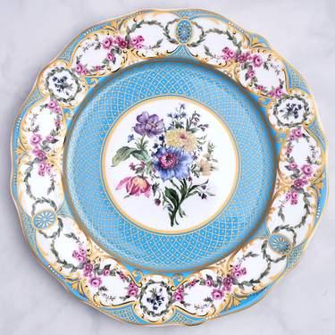 """China, Antoinette Bleu Dinner Plate 10.75"""""""
