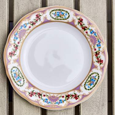 "China, Antoinette Violet B&B Plate 6.25"""