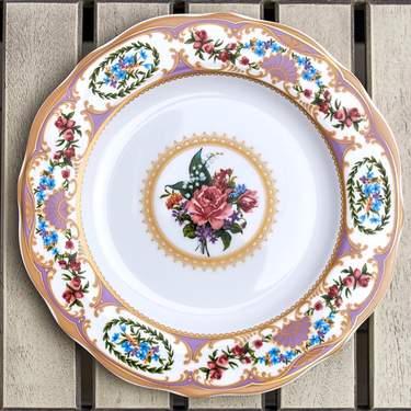 """China, Antoinette Violet Salad/Dessert Plate 8"""""""