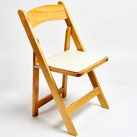 Bon Folding Chair   Natural Wood