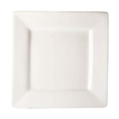 White Porcelain Square Plate 10""