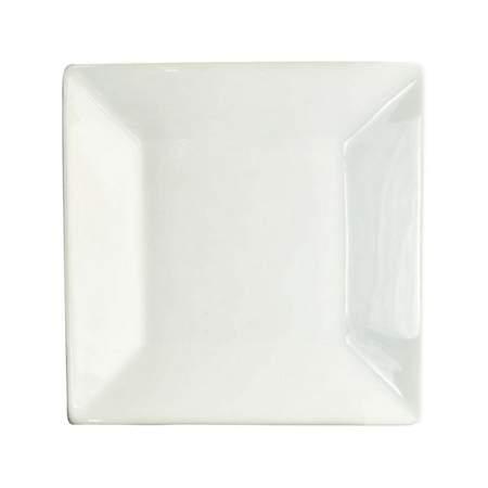 "White Porcelain Square Plate 7.5"""