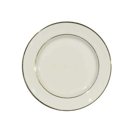 """Ivory Double Gold Banded Porcelain Bread & Butter Plate 6.75"""""""