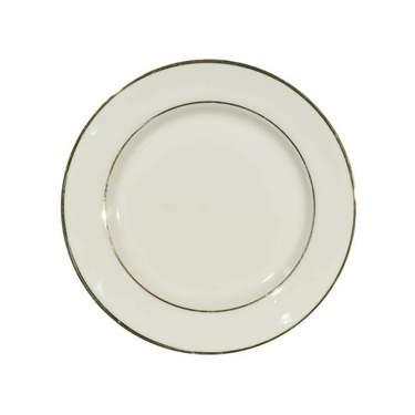 """Ivory Double Gold Banded Porcelain Salad/Dessert Plate 7.75"""""""