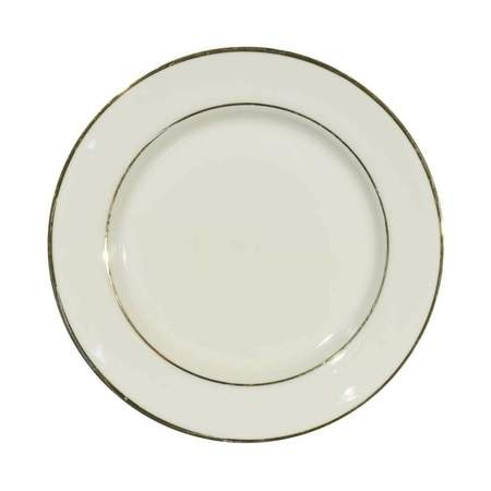 Ivory Double Gold Banded Porcelain Dinner Plate 10""