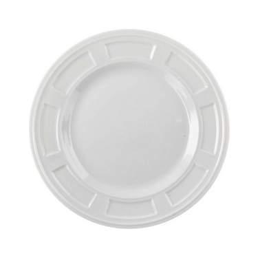 "White Porcelain Bellagio Plate 7.5"""