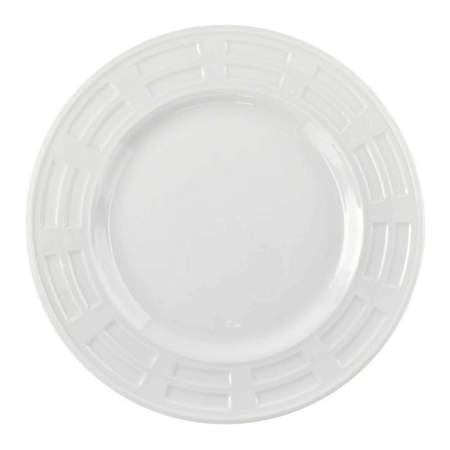 "White Porcelain Bellagio Plate 10.25"""