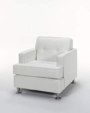 Whisper White Leather Chair Rentals | Rental Furniture for ...