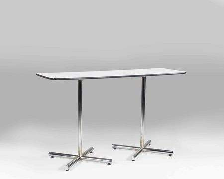 6 Quot Rectangle Bar Table White Rentals Rental Furniture