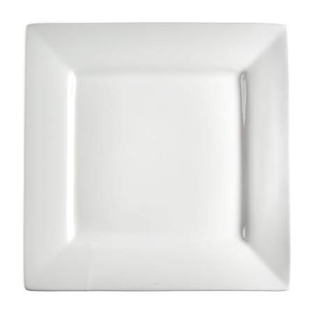 White Porcelain Square Charger Plate 11.625""