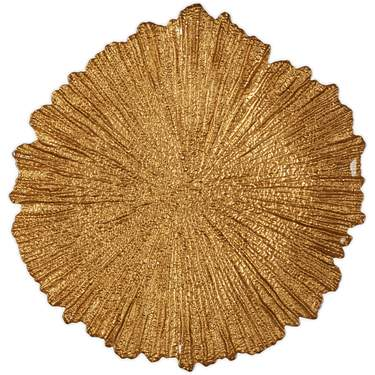 Gold Burst Glass Charger