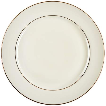 """Ivory Double Gold Banded Porcelain Charger Plate 12.25"""""""