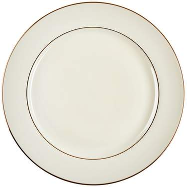 Ivory Double Gold Banded Porcelain Charger Plate 12.25""