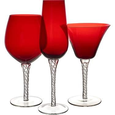 Ruby Braid Glassware Pattern