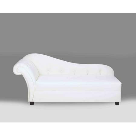 Plaza White Leather Chaise Rentals | Rental Furniture for ...