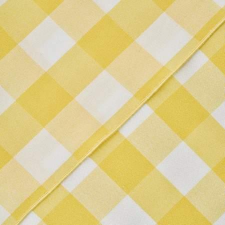"""Poly Check Lemon Yellow & White 72"""" Square"""