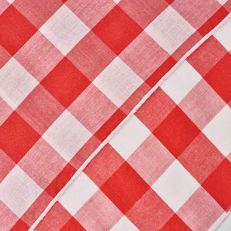 "Poly Check Napkin Red & White 20"" X 20"""