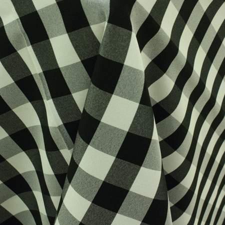 """Poly 90"""" x 156"""" Check Black & White"""