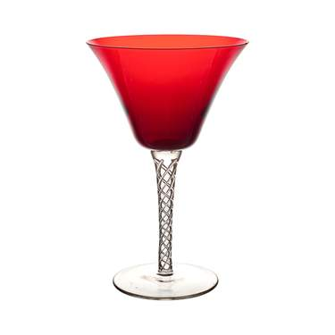 Ruby Braid Martini Glass