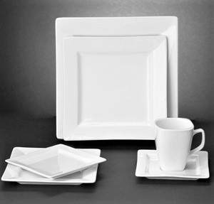 Tempo White Porcelain Pattern