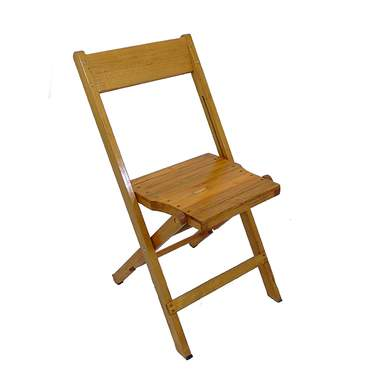 Folding Chair Distressed Wood Natural