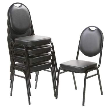 Black Stacking Padded Chair