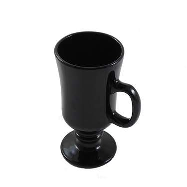 Black Glass Irish Coffee Mug