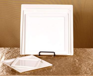 "Sheer Rectangle Plate 10"" x 5"""