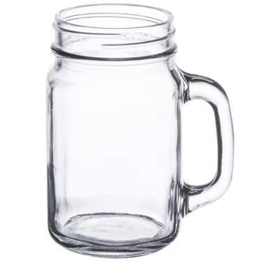 Mason Jar with Handle 16 oz