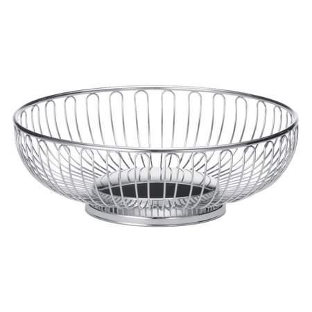 Basket Bread Oval Silver