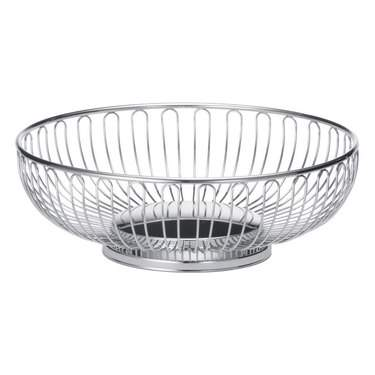 Basket Bread Oval Silver