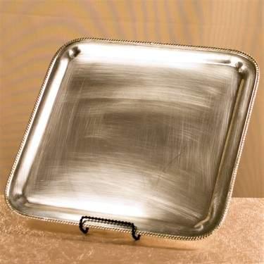 "Tray 15""  x  15"" Silver"