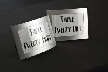 Table Number Silver Frame