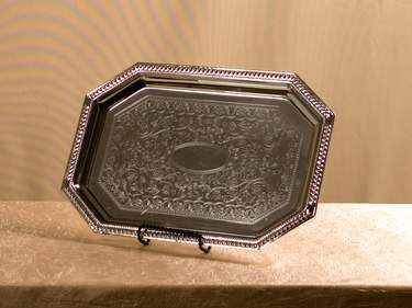 "Tray 14""  x  9"" Octagon S/S Gadroon"