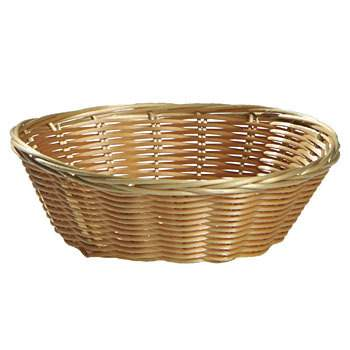 Basket Bread, Wicker 9""