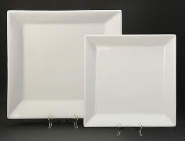 """Platter 16"""" Square White"""