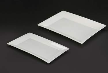 "Platter 13""   x   20"" Rectangle White"