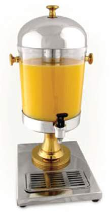 Beverage Dispenser 2.2 gal Acrylic S/S
