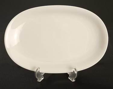 "Platter 12""   x   8"" OvaI White"