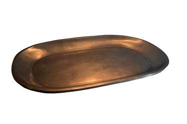 "Platter 33""  x  12"" Oval Pewter"
