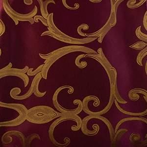 Damask Chopin Burgundy/Gold