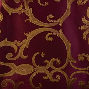 Damask Chopin Burgundy/Gold