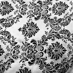 Damask Bravo Black/White