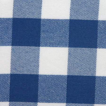 "Poly Royal Blue & White Check 90"" x 132"""
