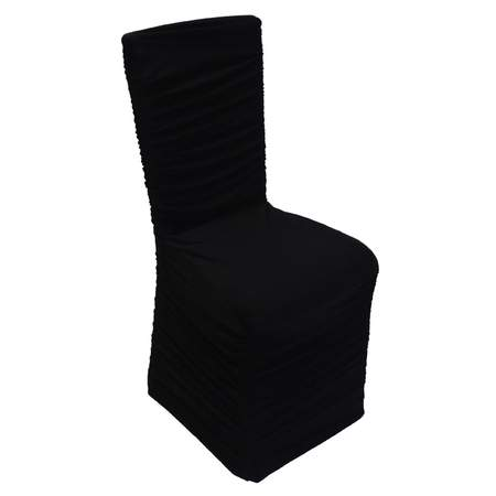 Black Rouched Spandex Chair Cover Rentals Linen Rentals