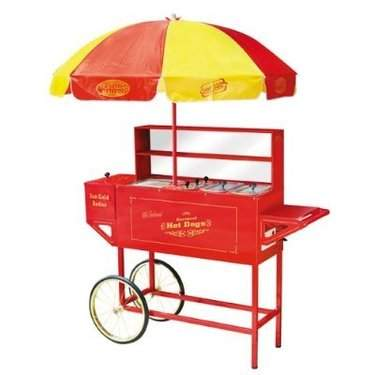 Hot Dog Cart w/umbrella Deluxe