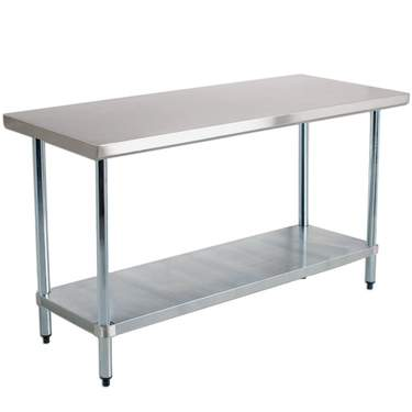 "Table 96"" x 30"" Stainless w/Shelf"