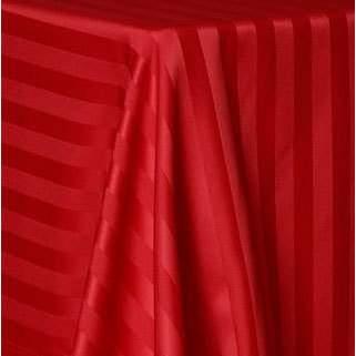 "Poly Satin Stripe Red Round 120"""