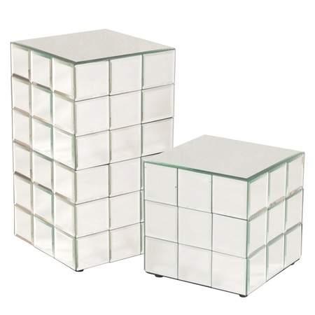 "Tiled Mirror Cube 18"" x 10"""